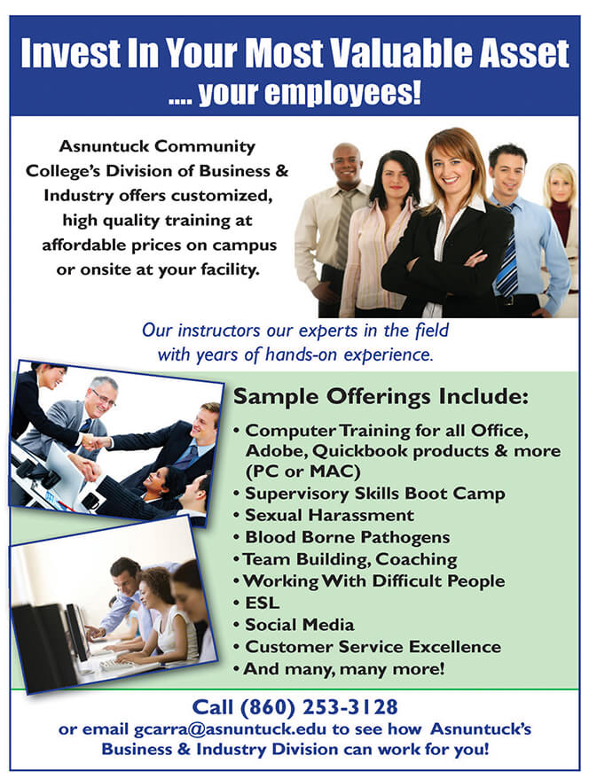 Employer Training Programs Asnuntuck Community College