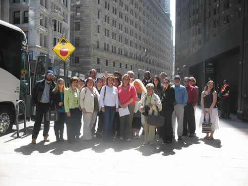 Student field trip to NY Stock Exchange funded by Mini Gant Program