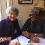 Edwina Trentham and Marilyn Turner planning the African American Read-In.jpg