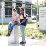 Two Students Outside