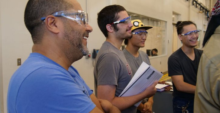 Students Attending Manufacturing Class
