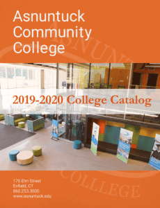 Courses & Catalog – Asnuntuck Community College