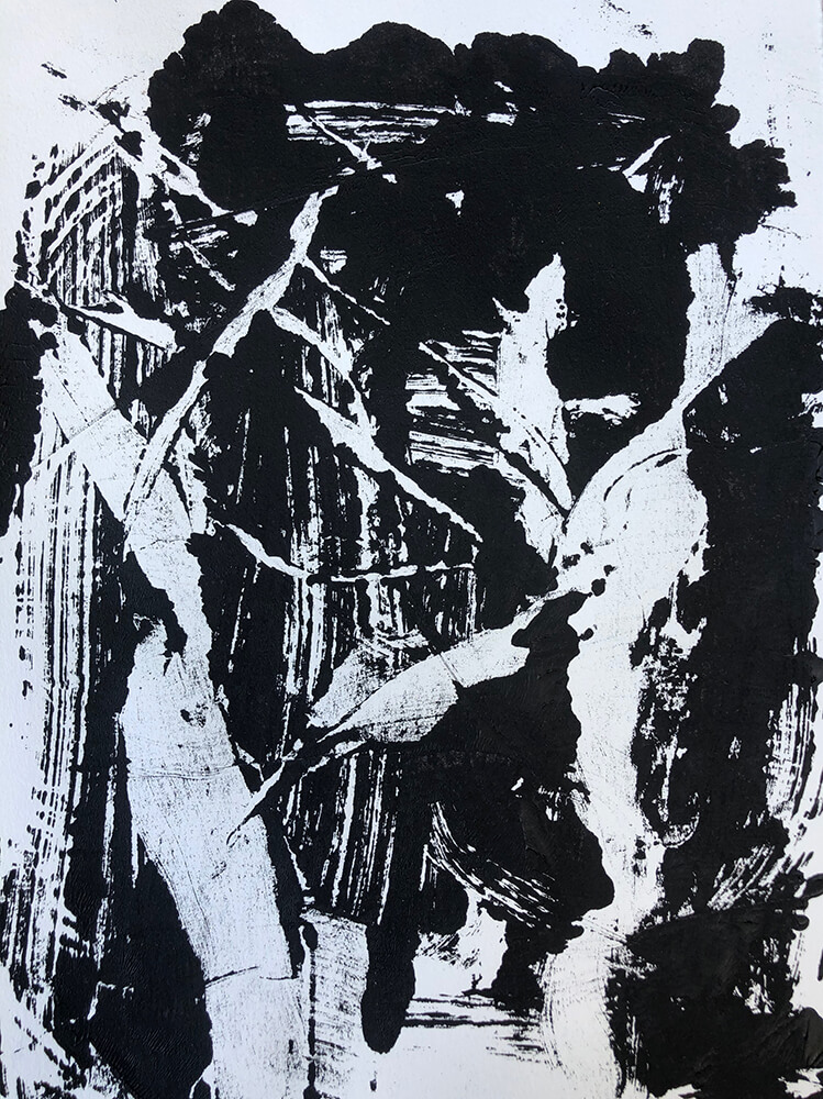 """Structure Monoprint"" by Madysen Blackmore"